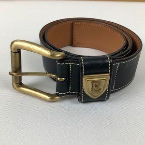Escada Sport Vintage Navy Blue Belt Gold Hardware